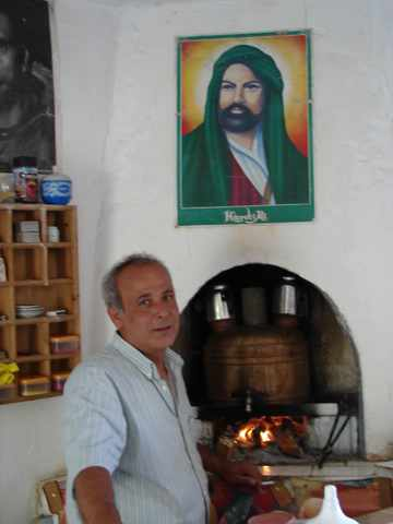Davut, proprietor of the Dervish Café