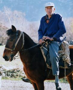 Turkish farmer on his horse