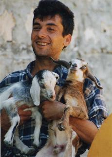 local farmer & baby goats